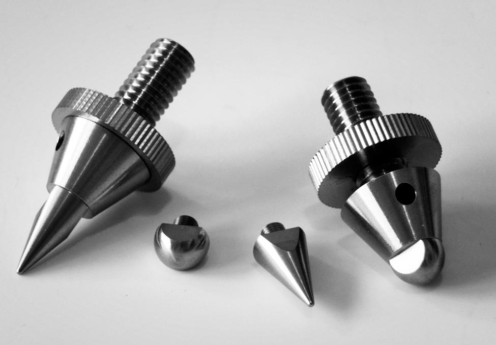 Bei den vom FinkTeam entwickelten Spikes hat das kann die Spitze gegen ein abgerundetes Abschlussstück ausgetauscht werden – so werden aus Spikes Domes.