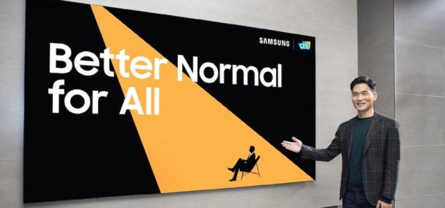 Samsung präsentiert seine neuesten Technologien für eine bessere Normalität