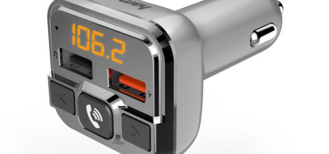 Hama FM-Transmitter mit Bluetooth- und Freisprechfunktion