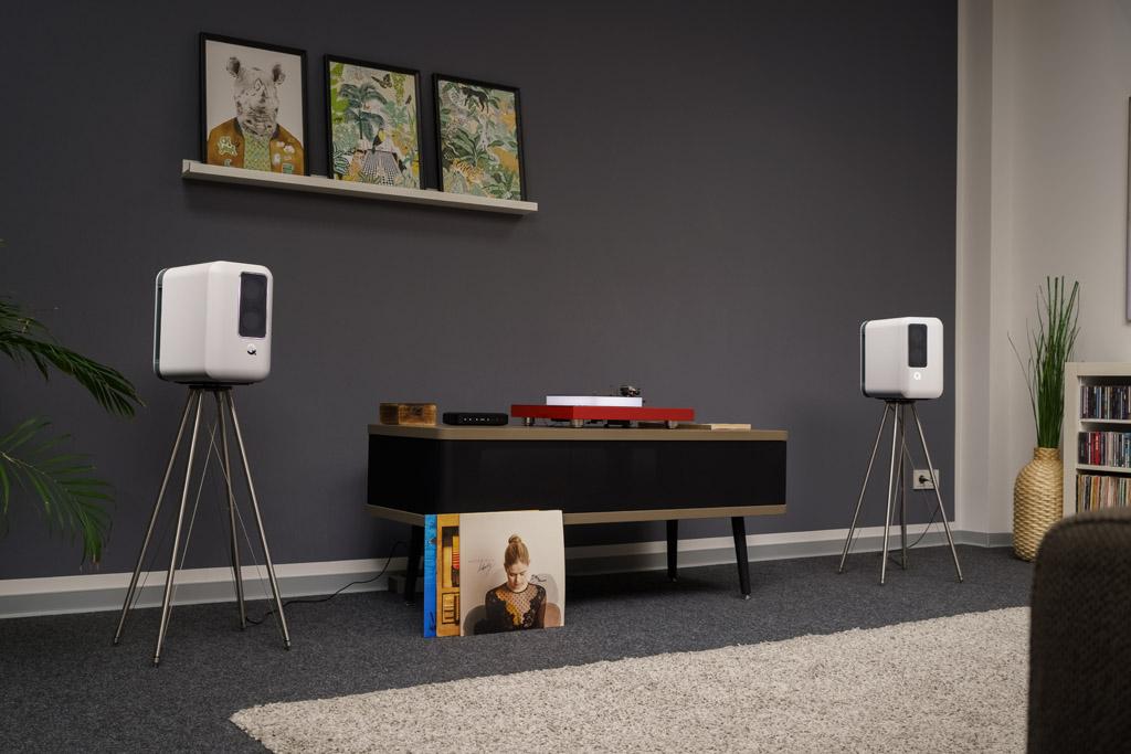 So kompakt, wohnraumfreundlich und trotzdem vielseitig und anschlussfreudig kann ein modernes Audiosystem sein.