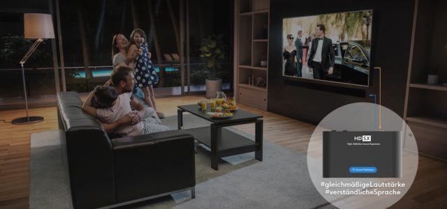 Der HDSX TV Sound Optimizer sorgt für verlässliche Lautstärke und verständliche Dialoge beim Fernsehen