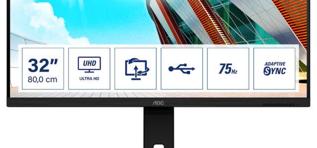 AOC präsentiert drei hochauflösende Displays von 28″ bis 31,5″: nur für Profis und Anspruchsvolle