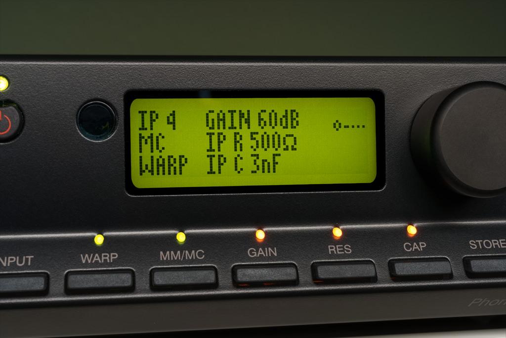 Im MC-Betrieb sind Gain, Impedanz und Kapazität einstellbar.