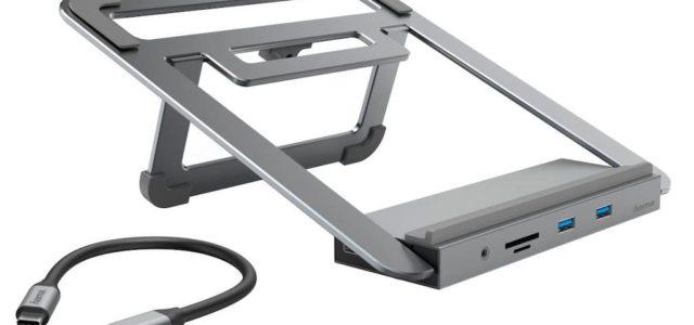 Hama 12in1-USB-C-Docking-Station mit Notebook-Stand – Voll aufnahmefähig