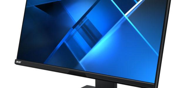 Neuer Business-Monitor Acer B248Y mit integrierter Webcam für Videokonferenzen