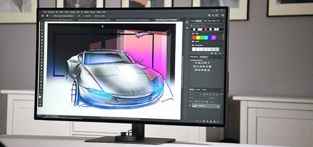 BenQ PD3220U – 32 Zoll UHD-Monitor mit USB-C für Designer, Grafiker, Architekten und 3D-Artists