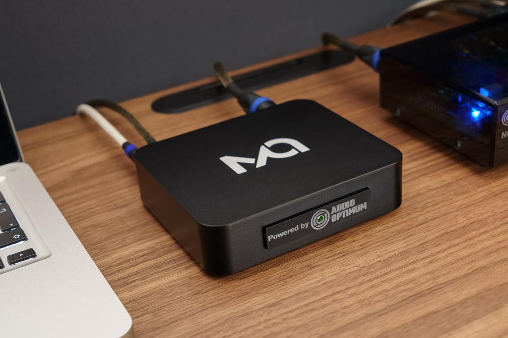 Über den optionalen, von Audio Optimum modifizierten Formatwandler/Reclocker Matrix Audio X-SPDIF 2 kann der NOS-DAC 2 auch mit USB-Files gefüttert werden – zugunsten der besten Audio-Performance wählt man als Verbindung AES/EBU.