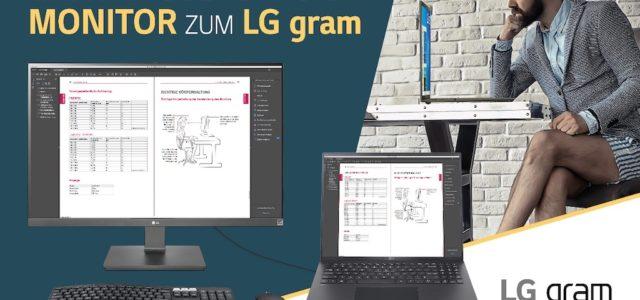 USB-C Business-Ausstatung im Bundle: 4K Monitor-Zugabe zu LG Gram 16 und 17