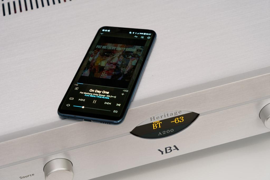Der A200 beherrscht über Bluetooth und mit dem Codec aptX HD Wireless Streaming in High Definition-Qualität.