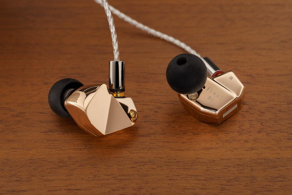 Edler In-Ear: Der Final B1 ist mit seinem hochglanzpolierten Roségold-Finish und der fraktalen Formgebung ein echter Hingucker.