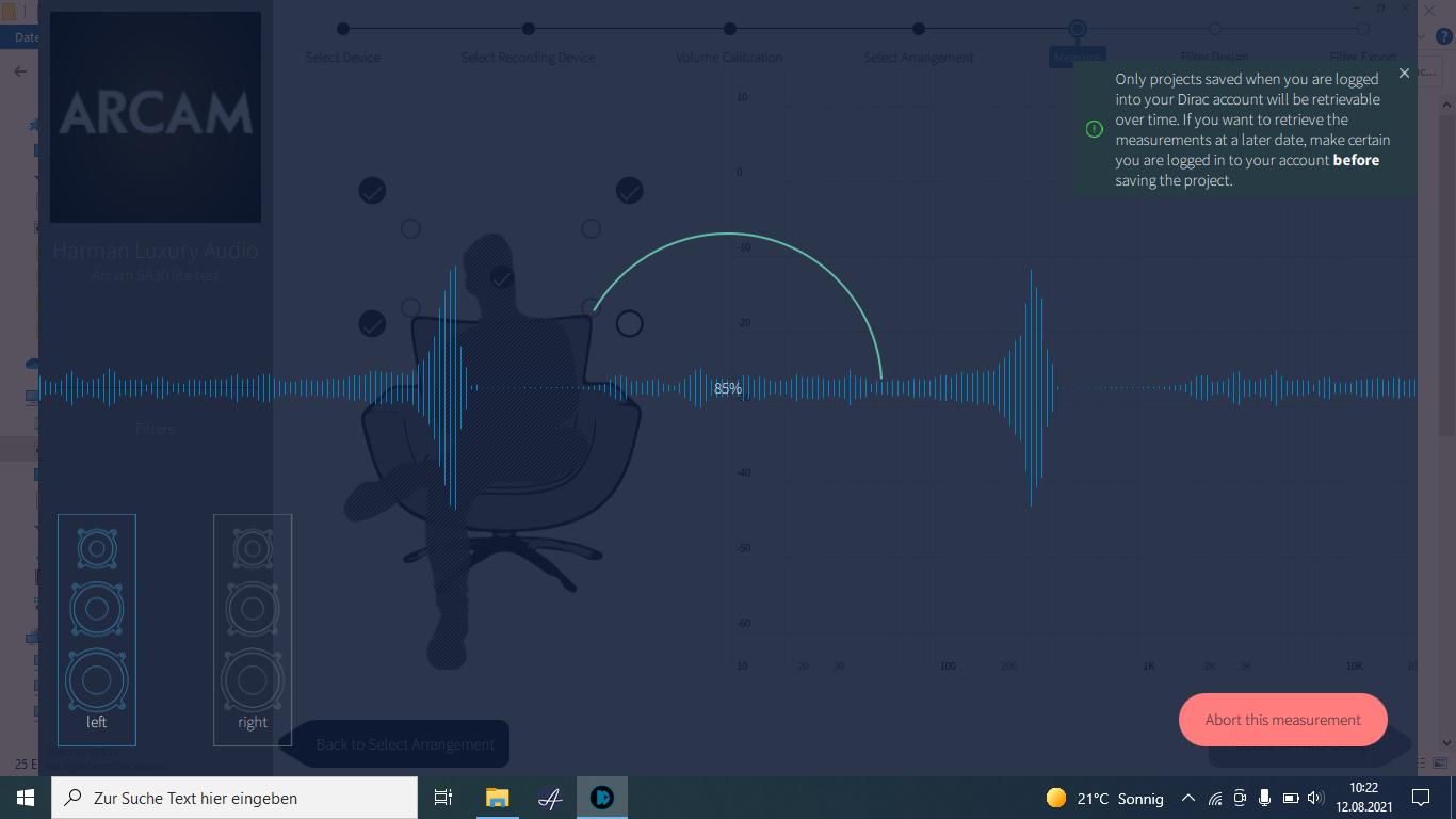 Mit mehreren Frequenz-Sweeps pro Messung wird der Raum akustisch ausgelotet.