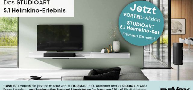5.1 Revox-Heimkino mit beeindruckender Klangqualität im Wohnzimmer – kabellos