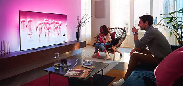 Philips 55OLED806 – Großes TV-Erlebnis mit KI, Ambilight, Dolby Atmos und HDR